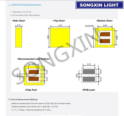 50pcs For SAMSUNG LED LCD Backlight TV Application LED Backlight 3W 3V CSP 1313 Cool white for TV TV Application