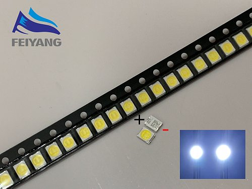 4000PCS Original LEXTAR 2835 3528 1210 3V 1w-2W SMD LED For Repair TV Backlight Cold white LCD Backlight LED