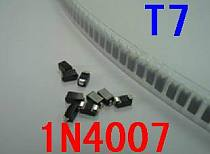 100PCS  diode 1n4007 in4007 t7 sod123 1206 volume