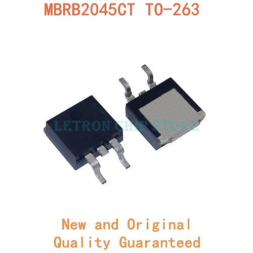 10PCS MBRB2045CT TO-263 2045CT TO263 B2045G D2PAK 20A 45V SMD Schottky diode new and original IC Chipset