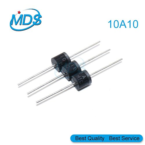 10pcs 10A10 R-6 DIP 10A 1000V Electrical Axial Rectifier Diode 10a10 Mic Diode