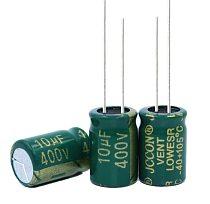 10PCS Higt quality 400V10UF 10*13mm 10UF 400V 10*13 Electrolytic capacitor