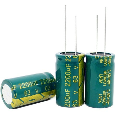 3300UF 100UF 2200UF 450V 63V 50V 18*30MM high frequency low impedance aluminum electrolytic capacitor
