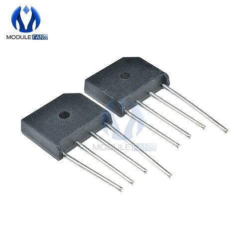 5PCS Diy Electronic KBL608 800V 6A Diode Bridge Rectifier Single Phase Bridge Rectifier KBL-608  High Temperature Soldering