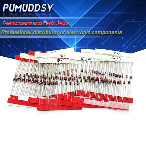 (2V4 to 8V2)140Pcs=14Values*10PCS 1/2W 0.5W Zener Diode Assorted kit Assortment Set New
