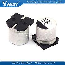 10PCS Electrolytic capacitor 35V470UF 10*10.5mm SMD aluminum electrolytic capacitor 470uf 35v
