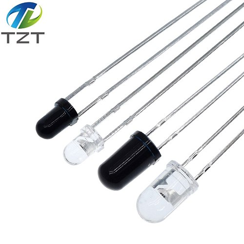 10pairs 3mm 5mm 940nm LEDs Infrared Emitter and IR Receiver Diode  Diodes 301A for arduino