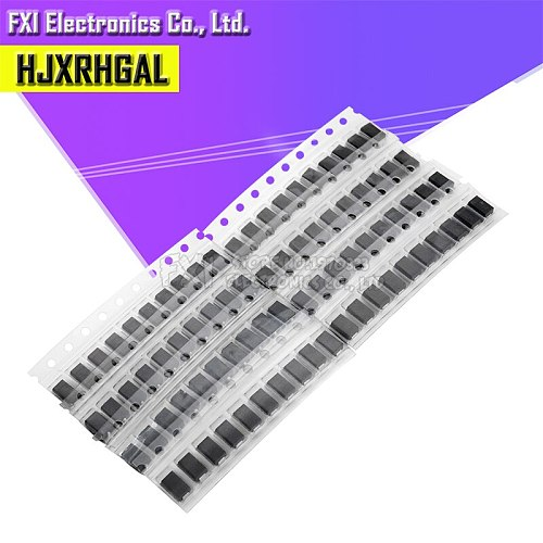 90pcs 9values x 10pcs 1N4001 1N4004 1N4007 SS14 SS24 SS34 SS16 SS26 SS36 SMD schottky diode assort kit