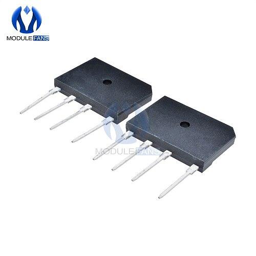 5PCS GBJ2510 1000V 25A Diode Bridge Rectifier Single Phase Bridge Rectifier High Frequency Diy Electronic