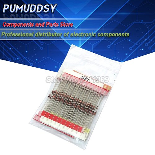 (2V4 to 33V) 270PCS 27 Values *10PCS 1/2W 0.5W Zener Diode Assorted kit Assortment Set New