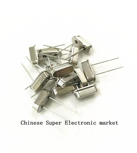 100PCS Crystal Oscillator 8MHz 8 MHz 8M Hz 8.000M Mini Passive Resonator Quartz HC-49S