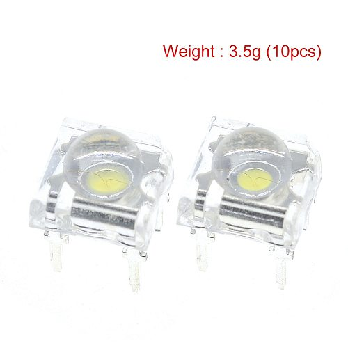 10Pcs 5mm F5 Piranha LED White RED Orange Amber Clear 5mm LED Diode Light-Emitting-Diodes 4-pins Piranha LED Diodos Brightness