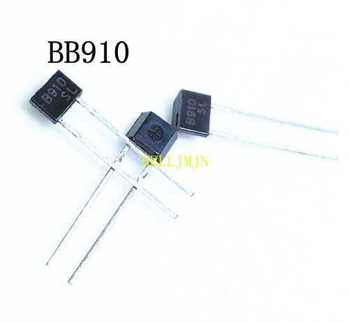 100PCS BB910 B910 910 - VHF Variable Capacitance Diode TO-92 TO92S