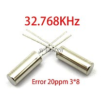 20pcs 32.768KHz Error 20ppm 3*8 32.768K 12.5pF Cylinder quartz resonator