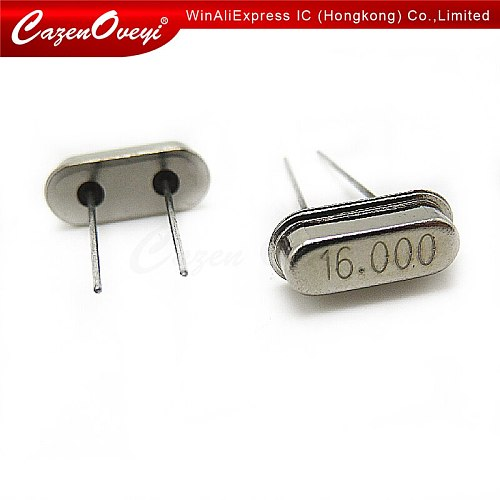 10pcs/lot hc-49s 16MHz Oscillator quartz resonator HC49S 49S 16M 16.000mhz crystal DIP-2 In Stock
