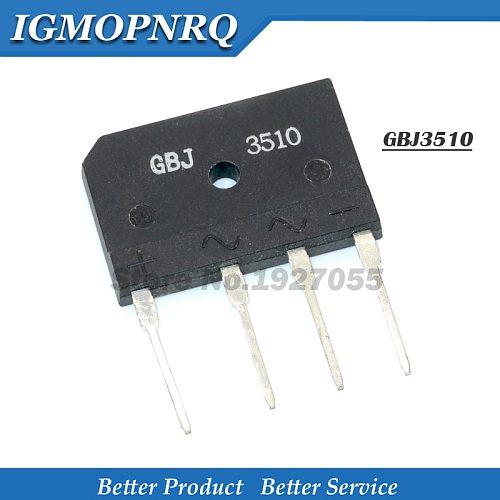 5PCS KBJ3510 GBJ3510 J3510 35A 1000V BRIDGE RECTIFIER Flat bridge new
