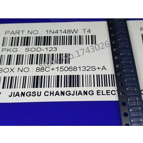 Original 500pcs 1206 1N4148W T4 1N4148 SOD-123 4148W Switching Diode IC c1 ...