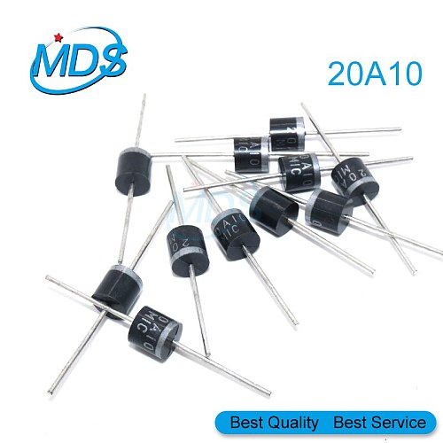 10pcs 20A10 R-6 DIP 20A 1000V Electrical Axial Rectifier Diode 20a10 Mic Diode