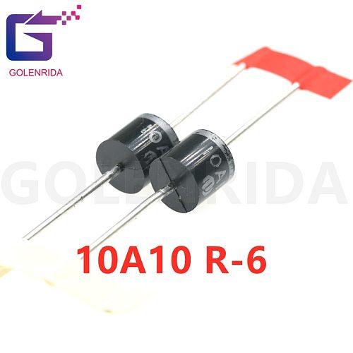 10PCS electrical Axial Rectifier Diode 10A10 R-6 DIP 10A 1000V 10a10
