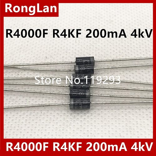 high voltage high voltage diode R4000F  R4KF 200mA 4kV high voltage silicon stack--500pcs/lot