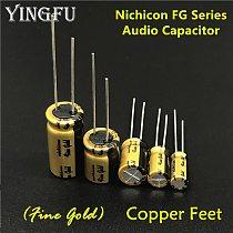 5Pcs/Lot NICHICON FG Series (Fine Gold) 6.3V~100V/0.1uF~470uF Available HIFI Audio Capacitor For Audio Equipment