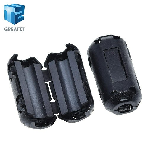 GREATZT 5mm Clip-On Ferrite Ring Core Noise Suppressor For EMI RFI Clip Cable Active Components Filters