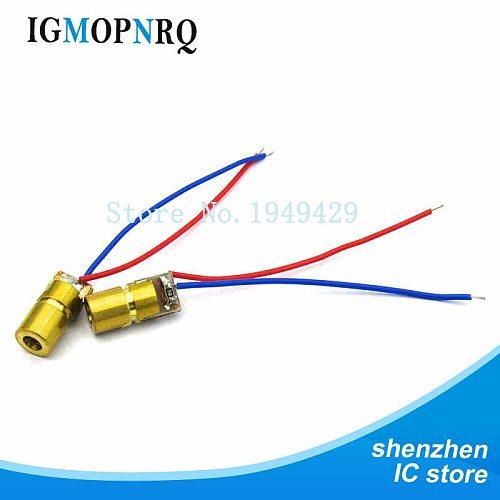 10pcs 650nm 6mm 3V 5V 5mW Adjustable Laser Dot Diode Module Red Copper Head
