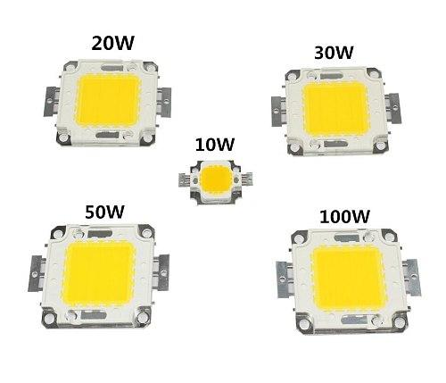 White 10W 20W 30W 50W 100W LED light Chip DC 12V 36V COB Integrated LED lamp Chip DIY Floodlight Spotlight Bulb