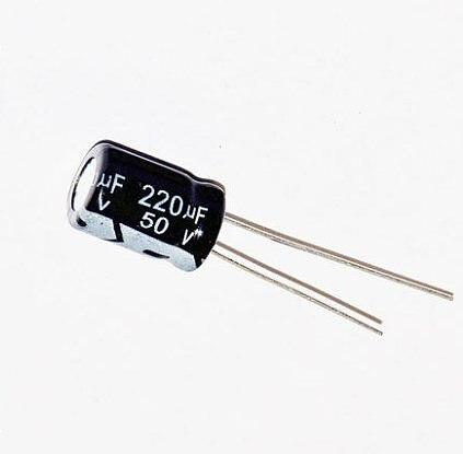500pcs 220uF 50V 105C entigrade Radial Electrolytic Capacitor 50v220uf 10 x 12mm