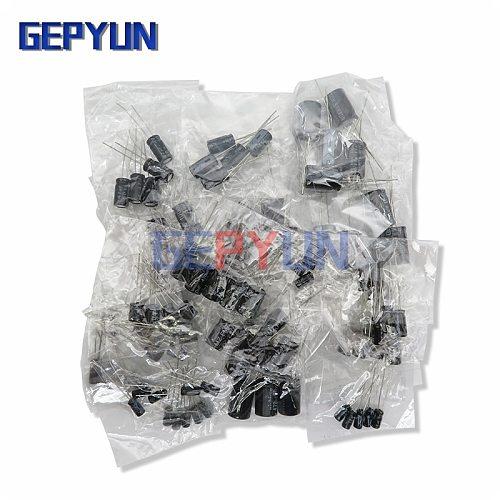 210Pcs/lot 25 Values 0.1uF ~ 220uF Electrolytic Capacitors Assortment Kit Set 16V/25V/35V/50V DIP Capacitor Pack 1uF 10uf 47uf
