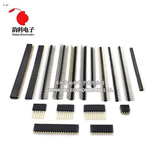 10pcs 1.27mm 40 Pin Male Single Row Pin Header Strip