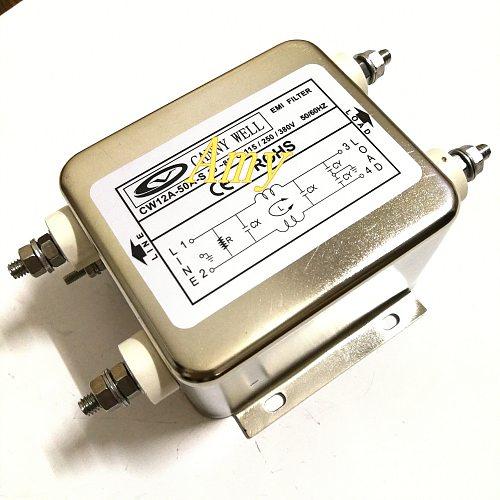 Power EMI filter CW12A 50A 60A 10A 20A 30A 40A S single-phase AC 220V purification
