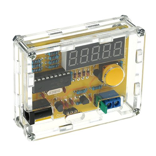 DIY Frequency Tester Crystal Counter Meter Oscillator Tester LED Display with Transparent Case 1Hz~50MHz