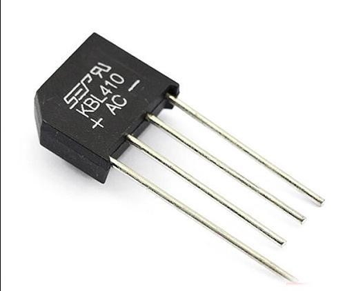 New5PCS  KBL410 KBL-410 4A 1000V Single Phases Diode Rectifier Bridge Wholesale Electronic