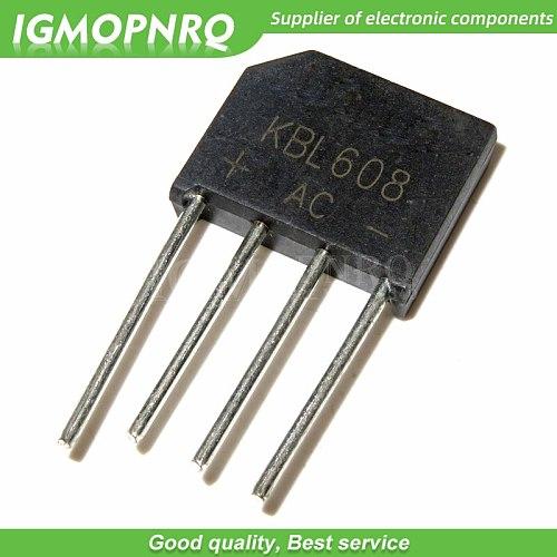 5PCS KBL608 KBL 608 bridge pile 6A 800V flat bridge rectifier new and original IC