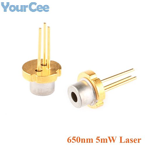 2pcs 650nm 5mw Laser Diode Module Red Color TO-18 DIY Laser Sensor Diode 2.2-2.4V LED Electronics Design