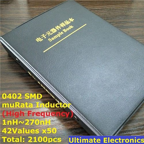 0402 muRata SMD Chip Inductor Assorted Kit 1nH~270nH 42Valuesx50 Sample Book