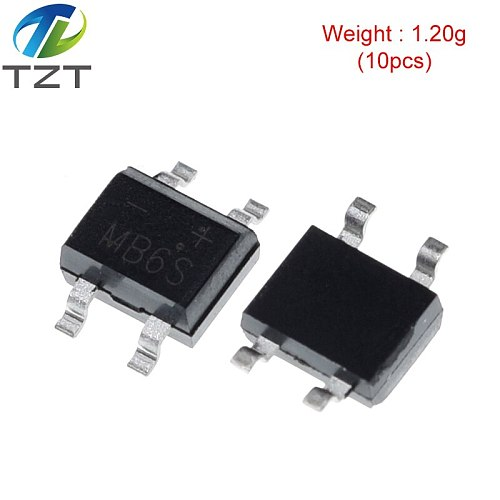 10pcs 600V 0.5A SOP-4 SMD rectifier diode bridge mb6s