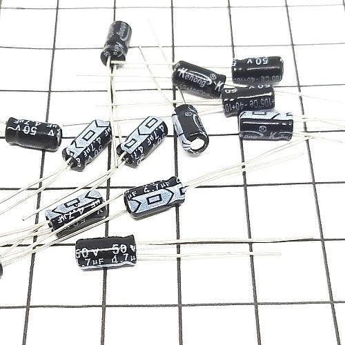 100pcs 4.7uF 50V 105C Radial Electrolytic Capacitor 4*7mm USA