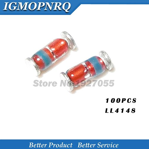 100PCS LL4148 -34 1N4148 4148 SMD Zener Diode NEW