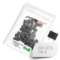 50 Pcs DB107S SMD Bridge Rectifier Diode 1A 1000V DB-S (SOP-4) Single Phase 1 Amp 1000 Volt DB107-S Silicon Diodes