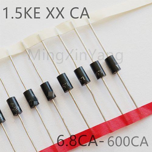 20PCS TVS Diode 1.5KE200CA 1.5KE220CA 1.5KE250CA 1.5KE300CA 1.5KE350CA 1.5KE400CA 1.5KE440CA Transient Voltage Suppressor