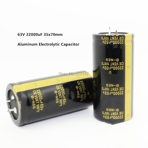 63V 22000uF 35X70mm Aluminum Electrolytic Capacitor High Frequency Low impedance -40 - 105C/-40 - 221F Through Hole Capacitor