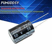 10PCS Higt quality 50V2200UF 16*25mm 2200UF 50V Electrolytic capacitor