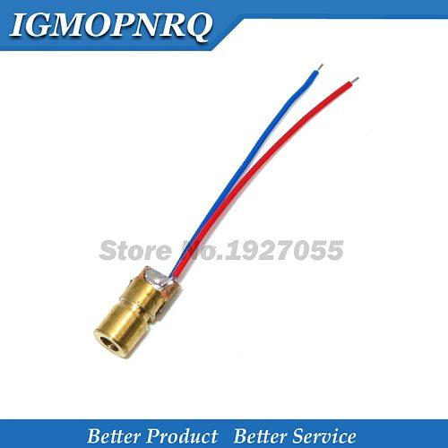 10Pcs Metal Laser Head 3V 5MW 3V 650 nm Red Spot Laser diode Ciuit 5V 5MW 650 nm Module Pointer Aims at Copper Head