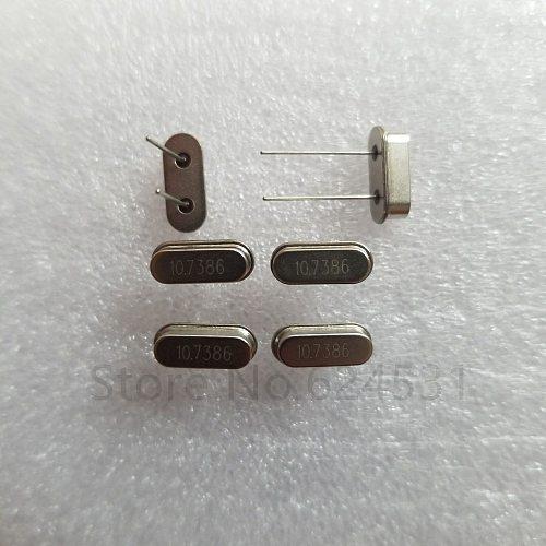 10pcs DIP crystal resonator HC-49S crystal 10.7386M 10.7386MHZ