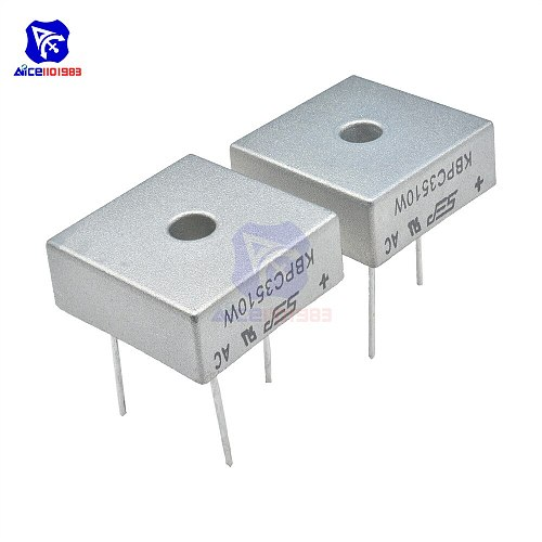 5PCS/Lot Bridge Rectifier Diode SIP-4 KBPC3510W 35A 1000V Single Phase Silicone Bridge Rectifier Original Integrated Circuit