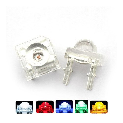 10Pcs 5mm F5 Piranha LED White Red Green Amber Clear LED Diode Light-Emitting-Diodes 4-pins Piranha LED Diodos Brightness