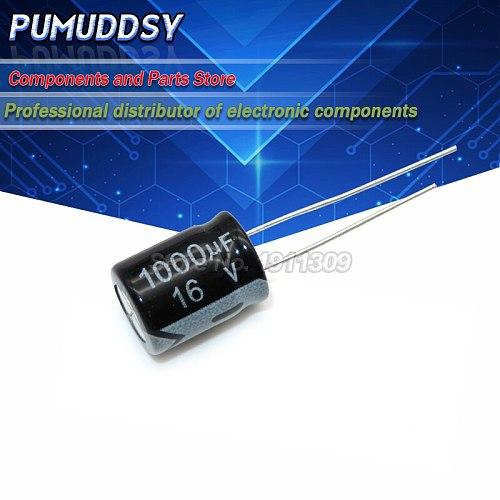 10PCS Electrolytic Capacitor 16V1000UF 16V 1000UF Volume 8*16MM
