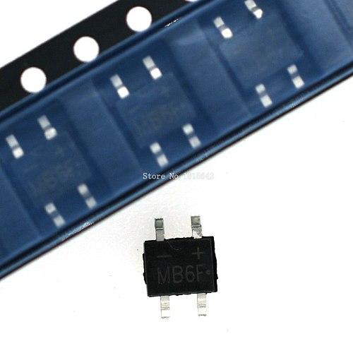 50PCS/LOT MB6F 600V 0.5A SOP-4 SMD rectifier diode bridge mb6f